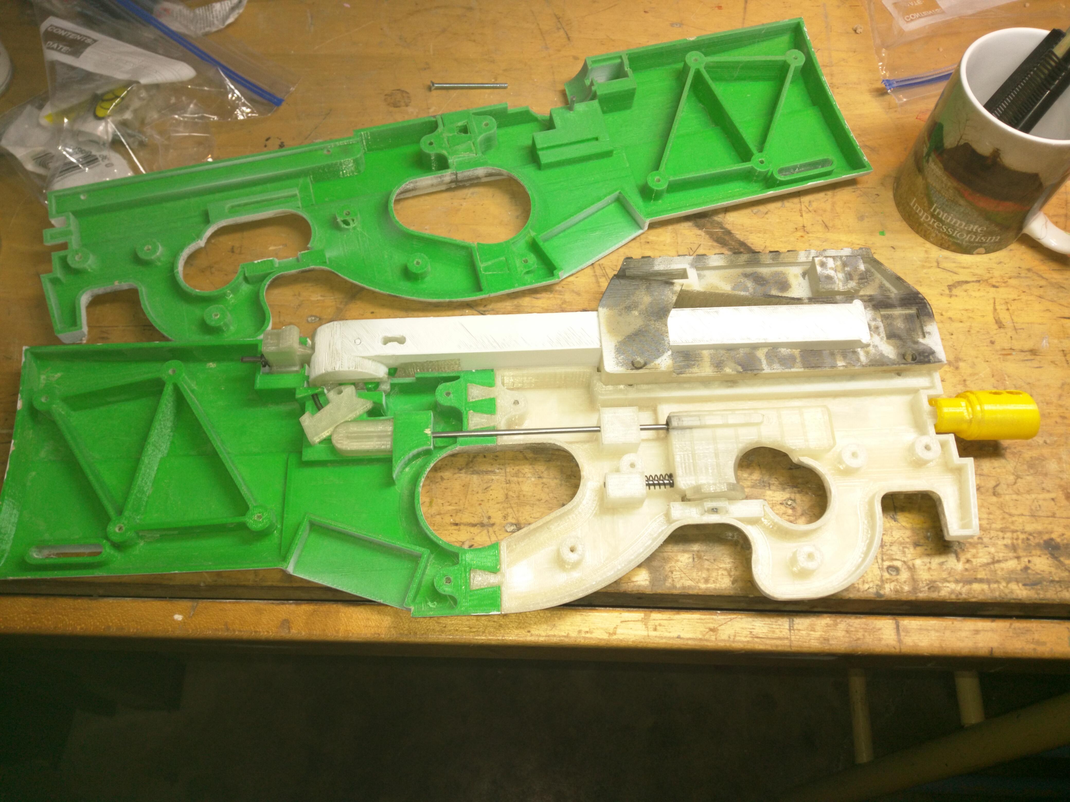 3d Printed Rubber Band Gun P90  U2013 Yuri Murakami